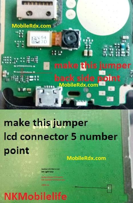 Nokia 215 Lcd Light Jumper Backlight Ways Solution