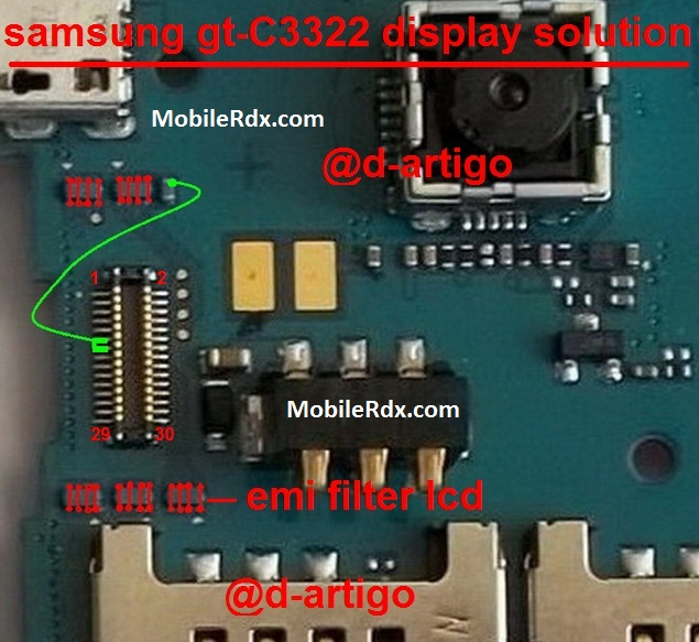 Samsung C3322 Blank Or White Display Problem Lcd Jumper Solution - Samsung C3322 Blank Or White Display Problem Lcd Jumper Solution