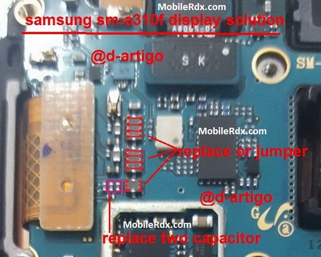 Samsung Galaxy A3 A310F Lcd Ways Display Problem Jumper Solution