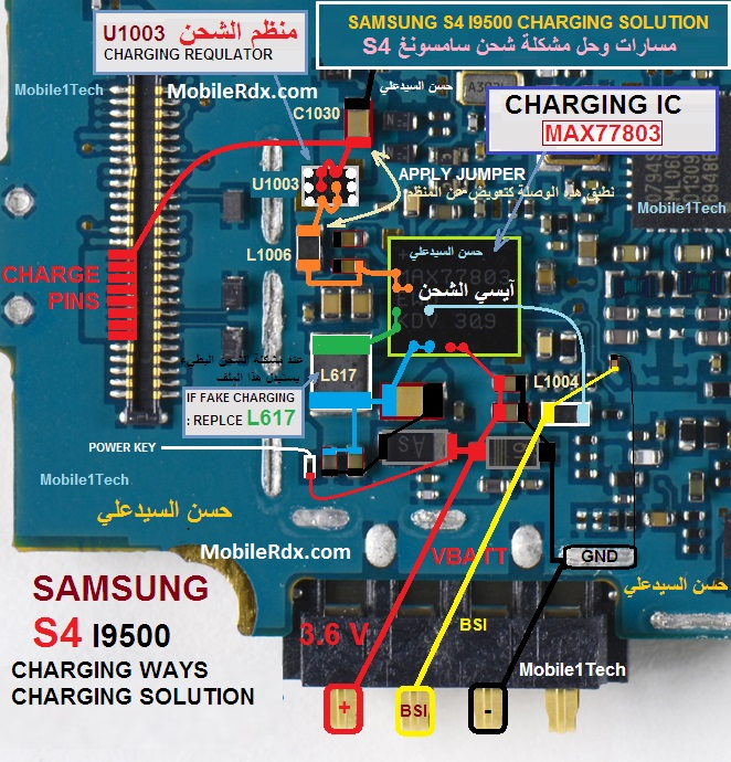 Samsung Galaxy S4 I9500 Charging Solution Charging Ways