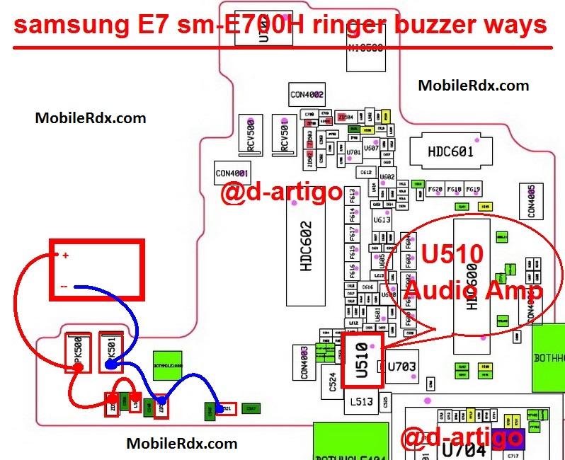 Samsung E7 E700H Speaker Ways Ringer Jumper Solution