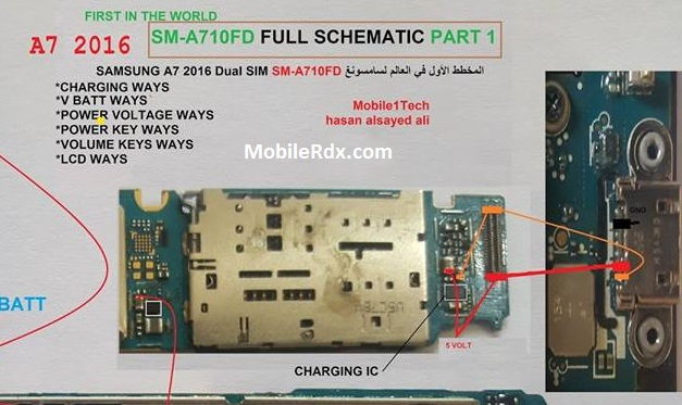 Samsung Galaxy A7 A710F Charging Ways Solution Jumper