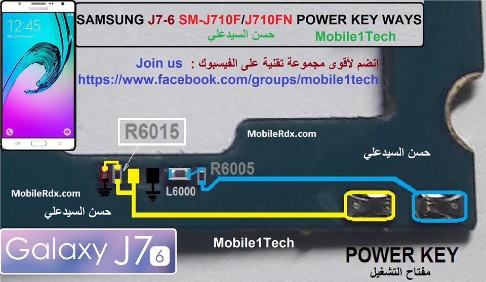 Samsung Galaxy J7 J710F Power Button Ways On-Off Key Jumper