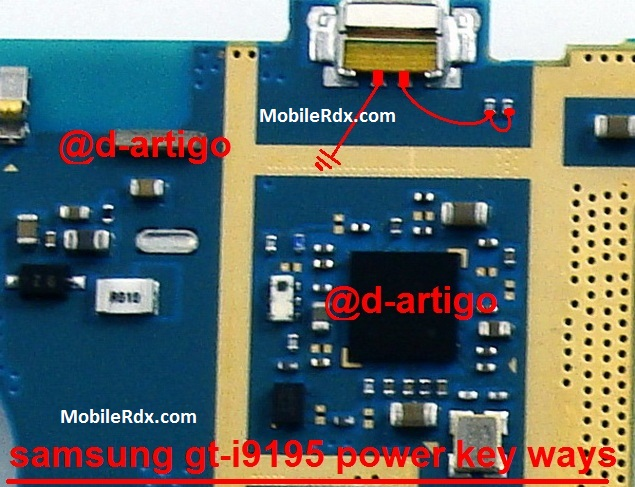 Samsung Galaxy S4 mini I9195 Power Button Ways On Off Key Jumper