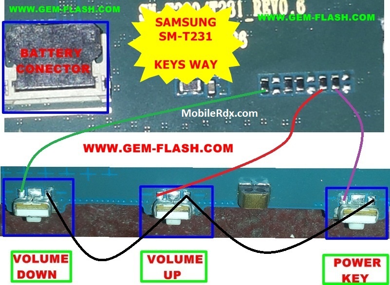 Samsung Galaxy Tab 4 T231 Volume And Power Button Ways Solution