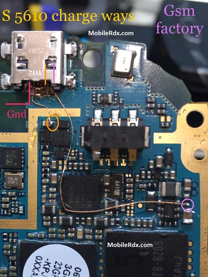 Samsung S5610 Charging Problem Jumper Solution