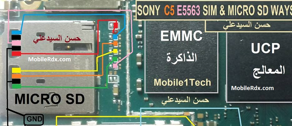 Sony Xperia C5 E5563 MMC Ways Memory Card Jumper Solution