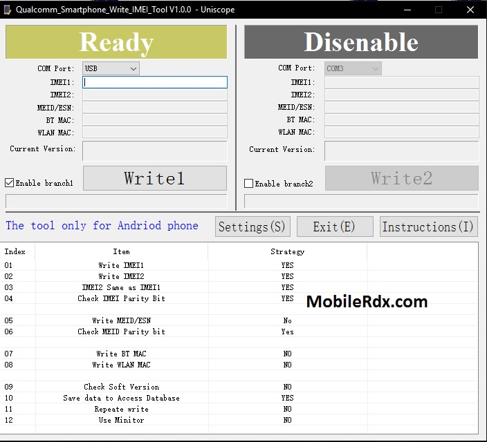 Download Qualcomm Smartphone Write IMEI Tool Latest Version