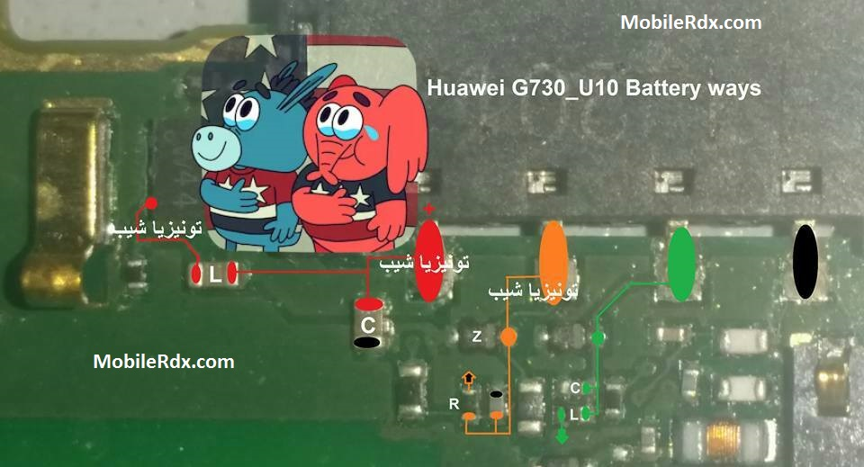 Huawei Ascend G730 Battery Connector Ways Jumper Solution