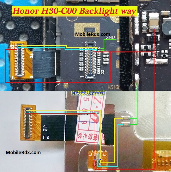 Huawei Honor 3C Display Problem Jumper Solution Backlight Ways