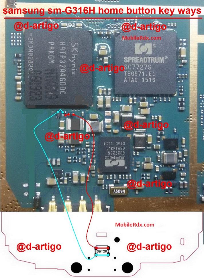 Samsung G316H Home Key Not Working Problem Jumper Solution