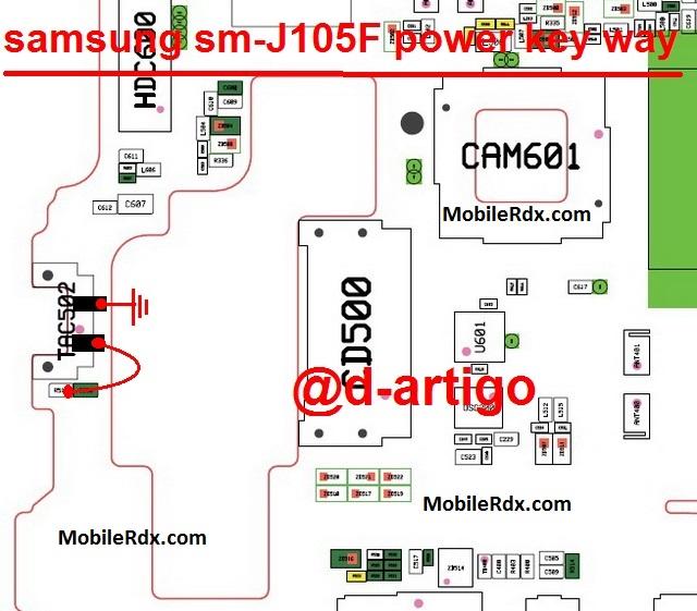 Samsung Galaxy J1 J105F Power Button Ways On Off Key Jumper