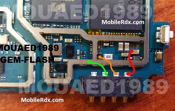Samsung Galaxy J3 J320 Battery Connector Point Jumper Solution