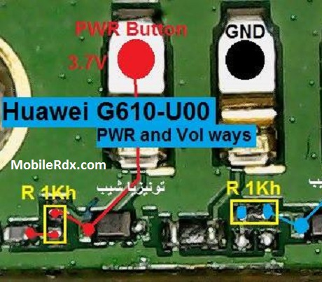 Huawei Ascend G610 Power Button Ways On Off Key Jumper