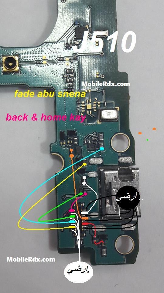 Samsung Galaxy J5 J510 Home And Back Keys Ways Jumper