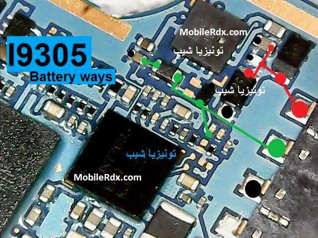 Samsung Galaxy S3 I9305 Battery Connector Ways Jumper