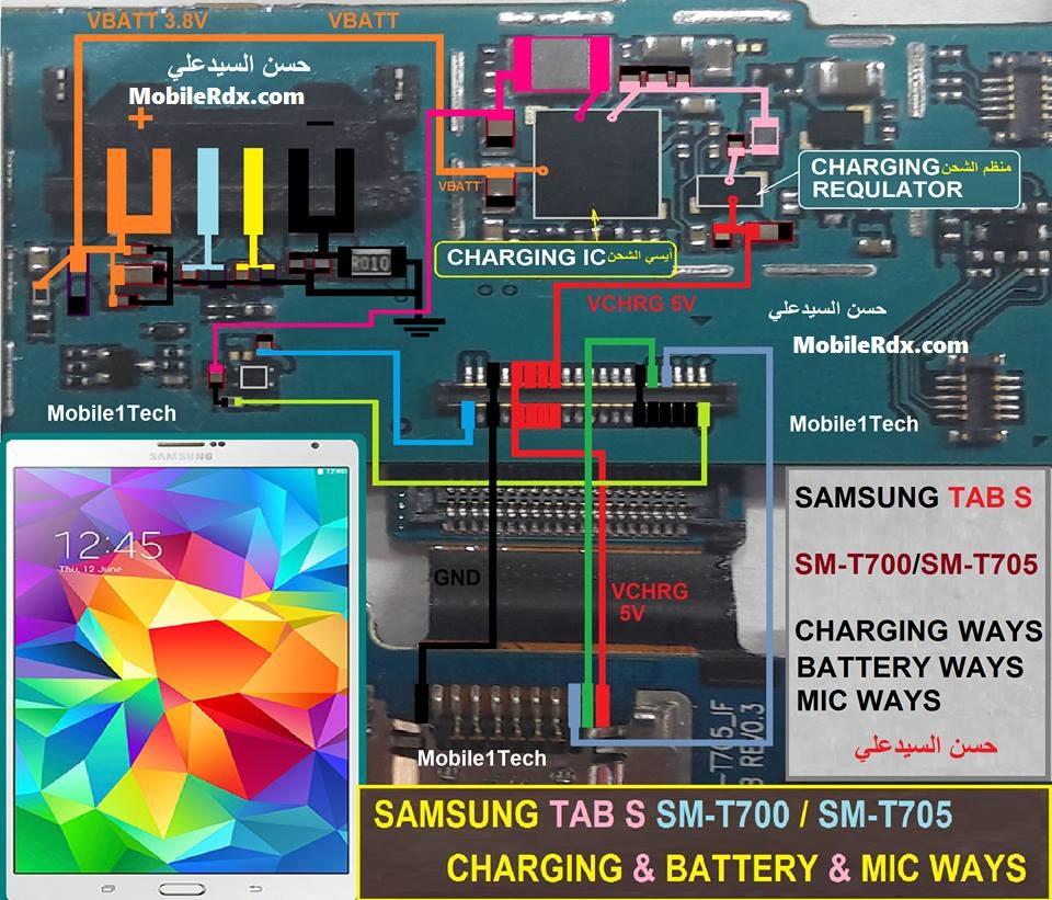 Samsung Galaxy Tab S T700 Charging Problem Jumper Solution