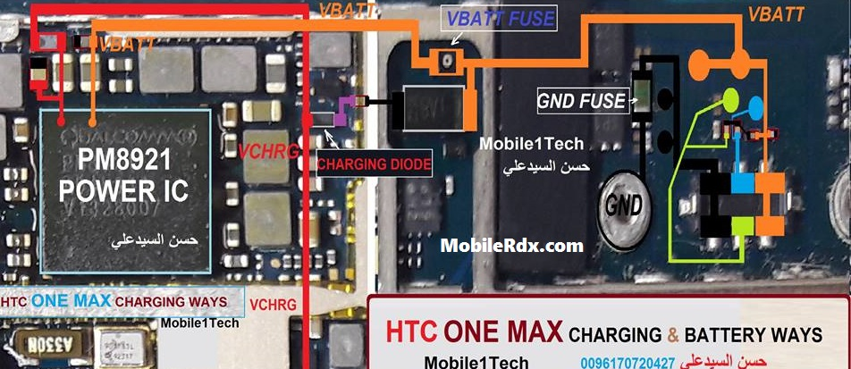 HTC One Max Battery Connector Ways Battery Terminal Jumper