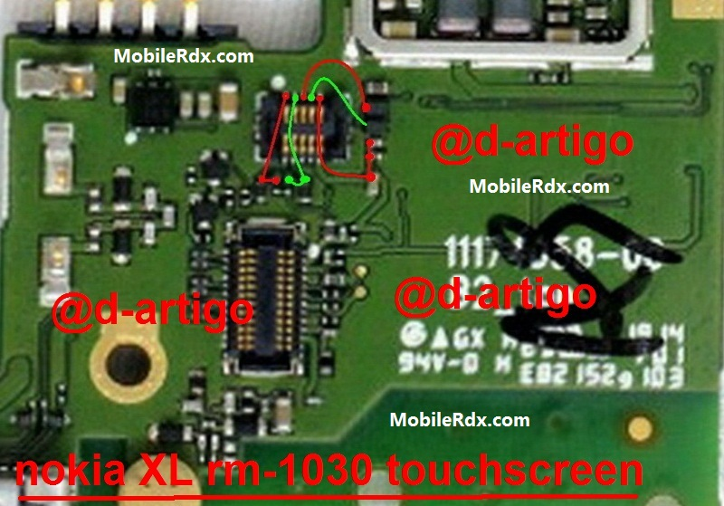 Nokia XL Touch Solution Touch Screen Jumper Ways