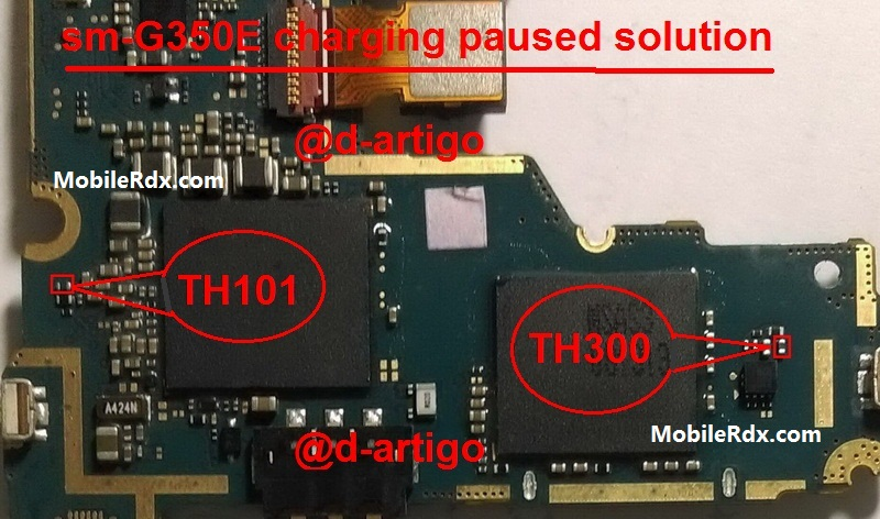 Samsung G350E Charging Paused Problem Repair Solution