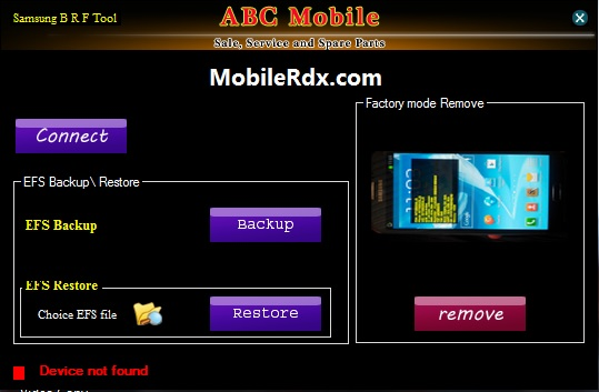 Download Samsung BRF Tool EFS Backup EFS Restore Factory Mode Remove