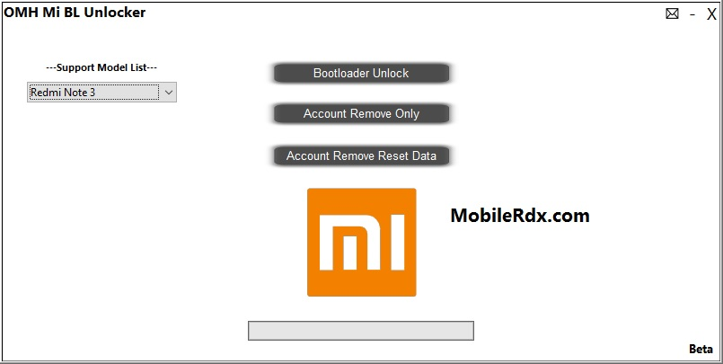Download Xiaomi MI Bootloader Unlocker / Mi Account Unlocker