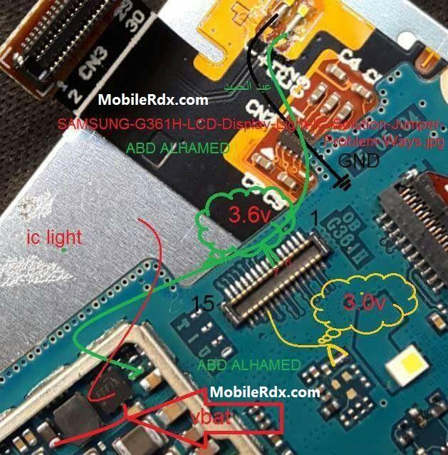 Samsung G361H Display Light Solution Backlight Ways