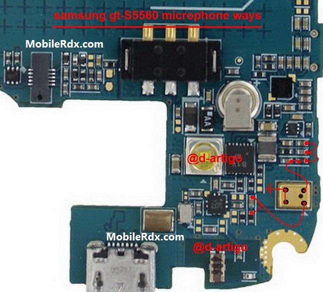 Samsung Galaxy Gio S5660 Mic Ways Microphone Problem Jumper