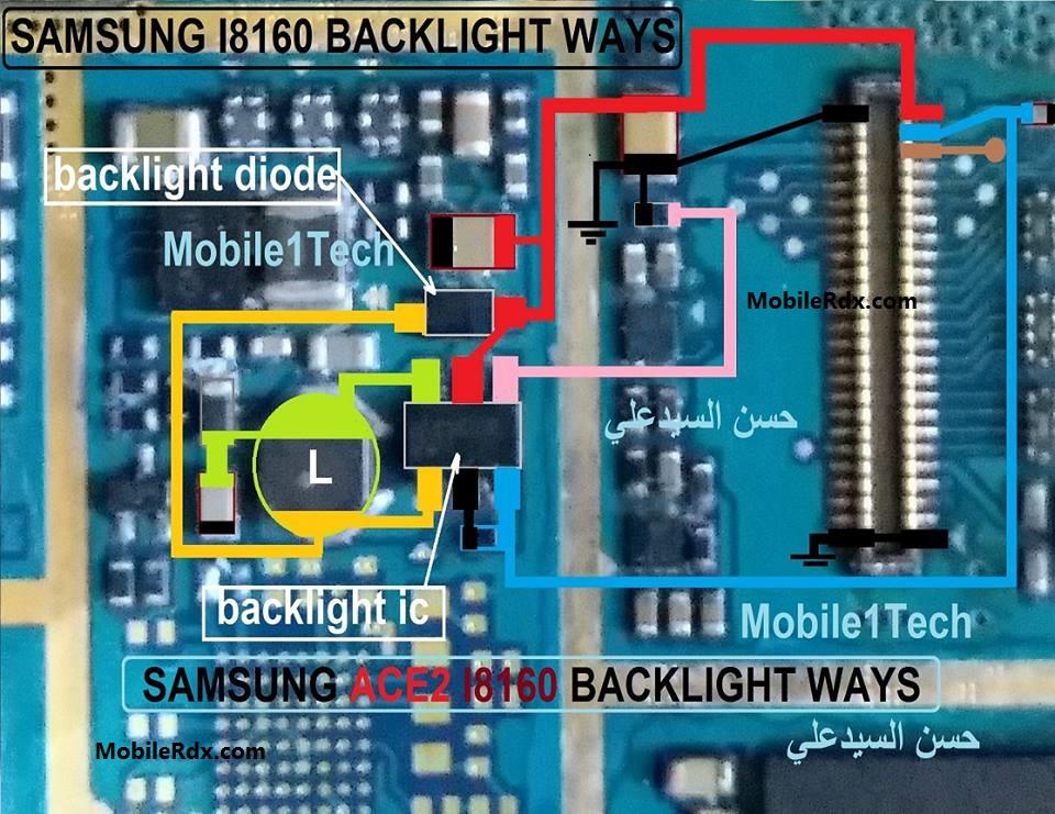Samsung I8160 Display Light Ways Backlight Jumper Solution