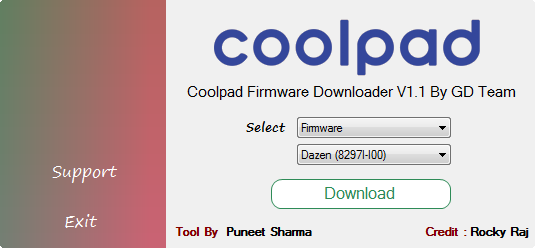 Download Coolpad Firmware Downloader V1.1