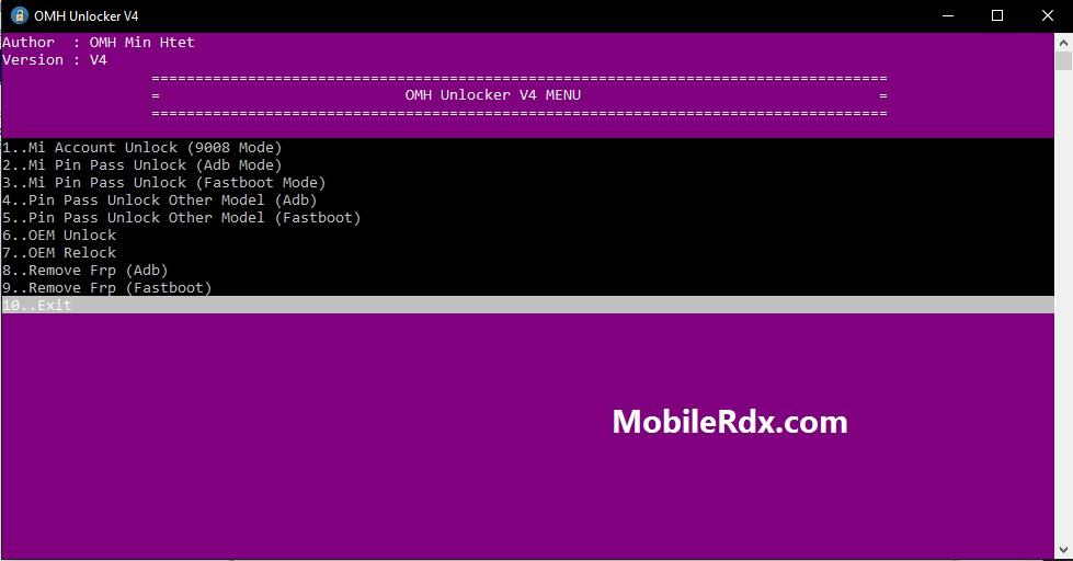 Download OMH Unlocker Tool V4