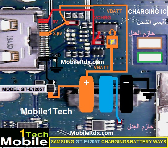Samsung E1205T Charging Jumper Solution Charging Ways