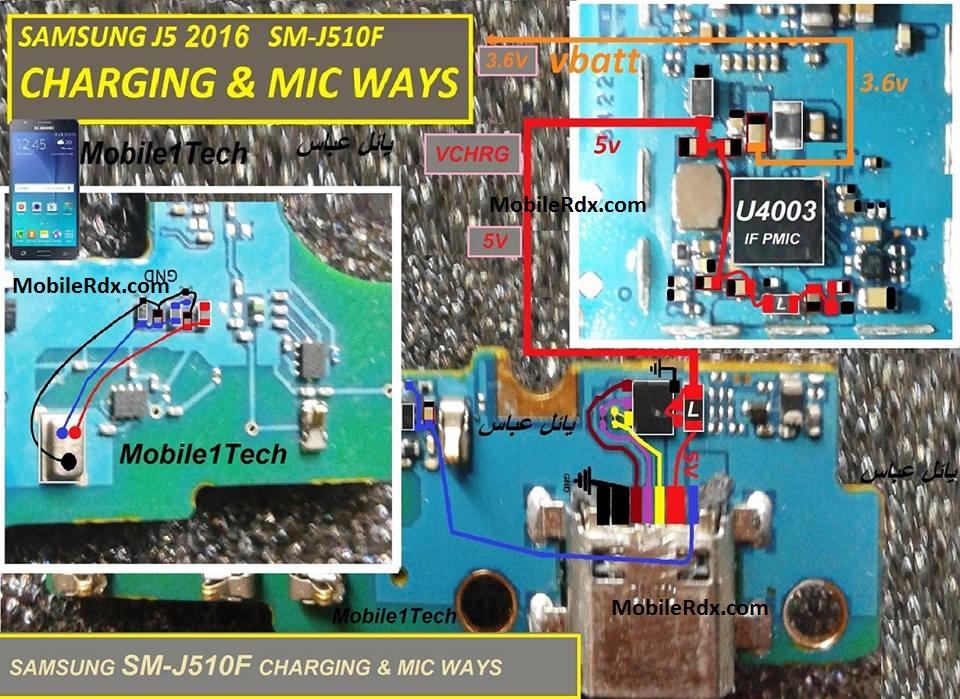 Samsung Galaxy J5 J510F Charging Ways Solution Not Charging Problem