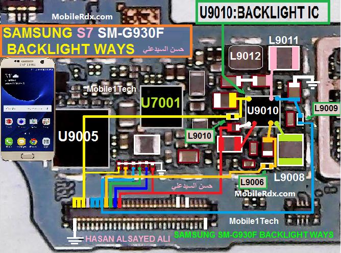 Samsung Galaxy S7 G930f Backlight Ways Display Jumper Solution