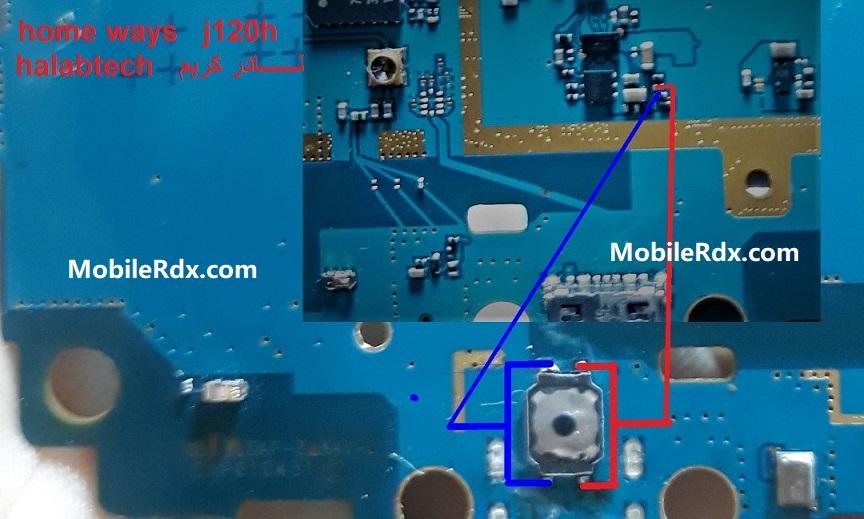 Samsung J120H Home Key Waays