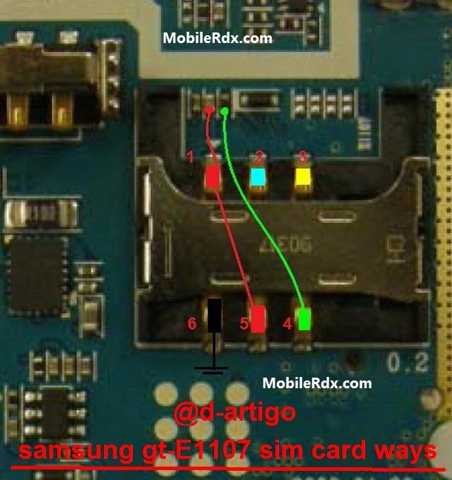 Samsung E1107 Sim Ways Sim Card Jumper Solution