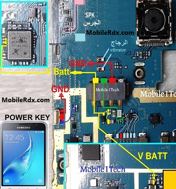 Samsung Galaxy J1 J120H Battery Connector Ways Power Jumpers