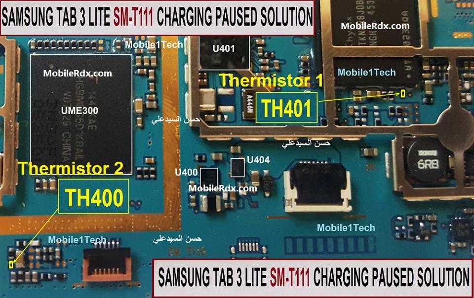 Samsung Galaxy Tab 3 Lite Charging Paused Problem Repair Solution