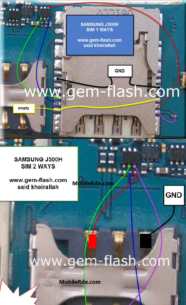 Samsung SM-J500H Sim Card Ways Solution Sim Ic Jumpers