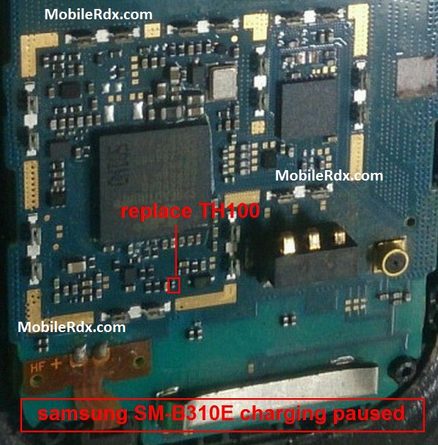 Samsung B310E Charging Paused Problem Repair Solution