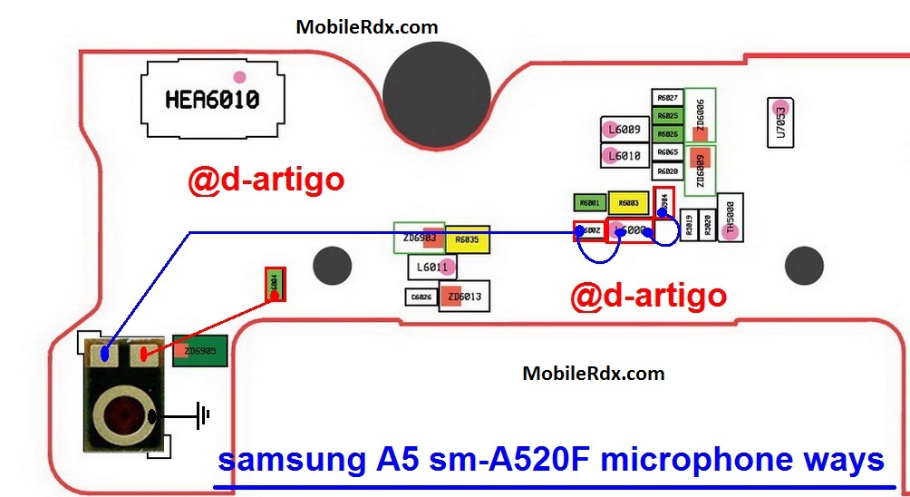 Samsung Galaxy A5 A520F Mic Solution Microphone Jumper Ways