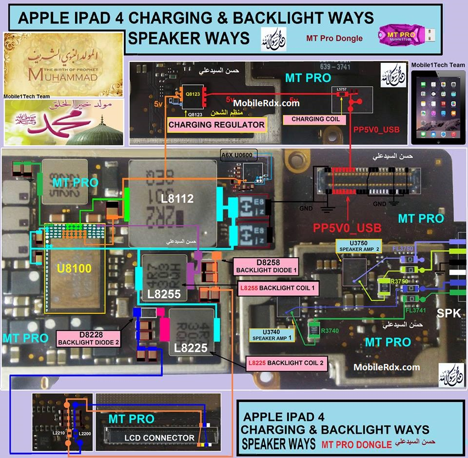 Apple iPad 4 Backlight Ways Solution Display Jumper
