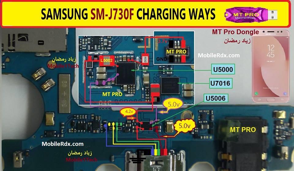 Samsung Galaxy J7 J730F Charging Ways USB Jumper Solution