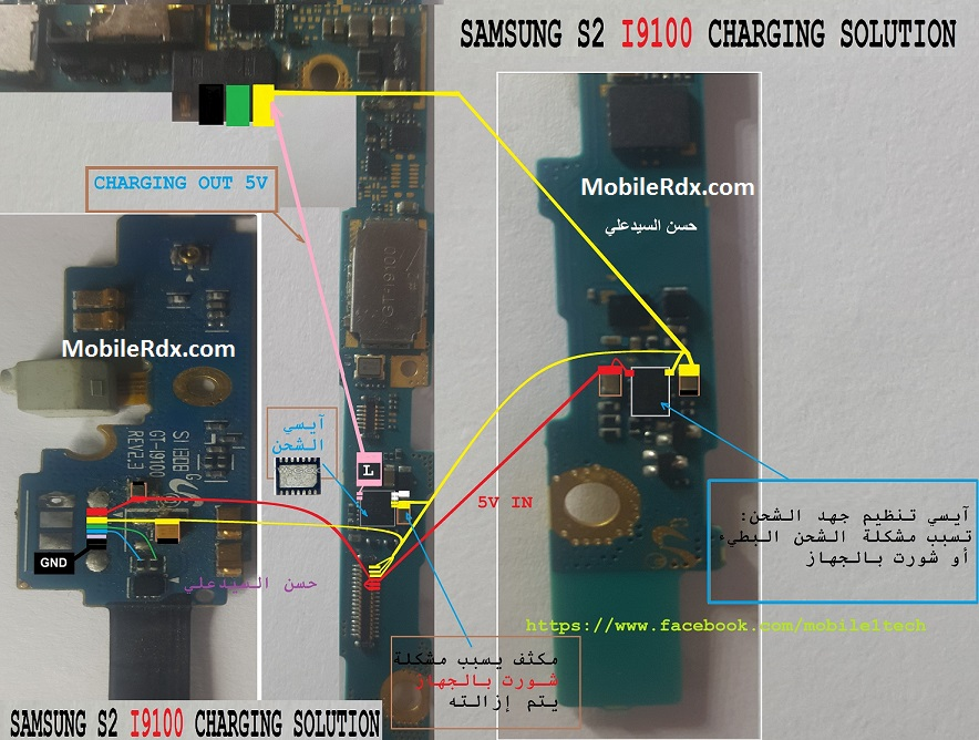 Samsung Galaxy S2 I9100 Charging Ways Solution USB Jumper