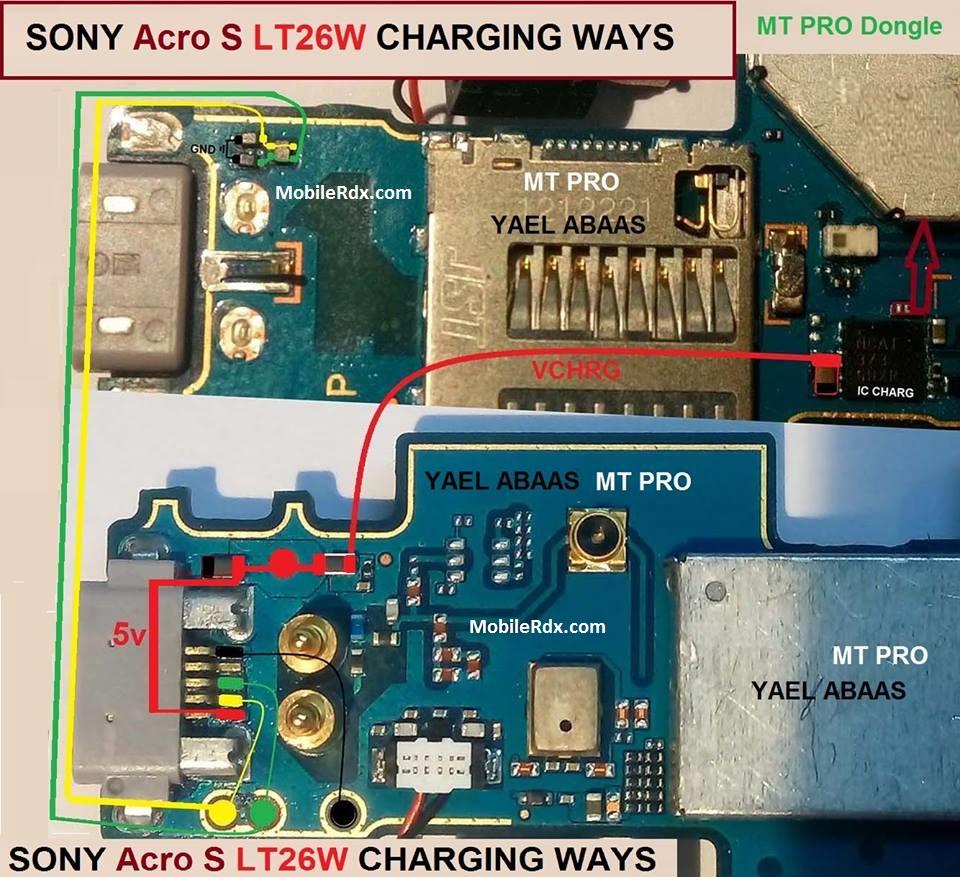 Sony Xperia acro S LT26w Charging Solution USB Jumper Ways