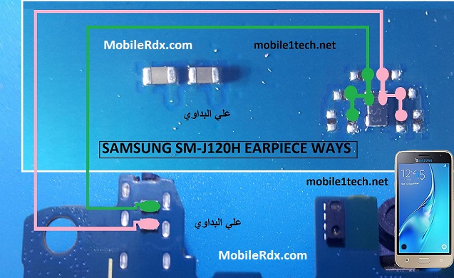 Samsung Galaxy J1 J120H Earpiece Speaker Ways Solution