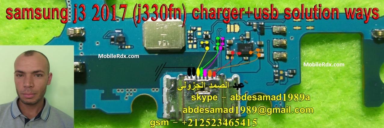 Samsung Galaxy J3 J330FN Charging Jumper Solution USB Ways