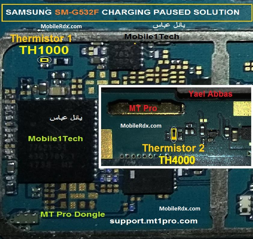 Samsung SM G532F Charging Paused Problem Repair Solution