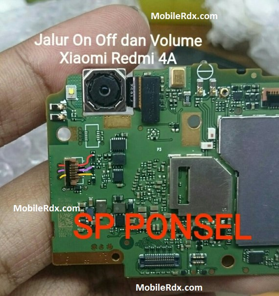 Xiaomi Redmi 4A Power And Volume Keys Jumper Ways