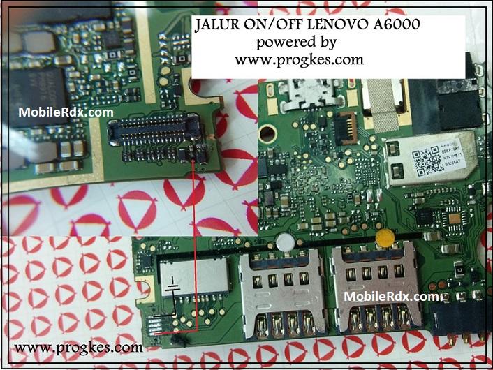Lenovo A6000 Power Button Ways On Off Key Jumper